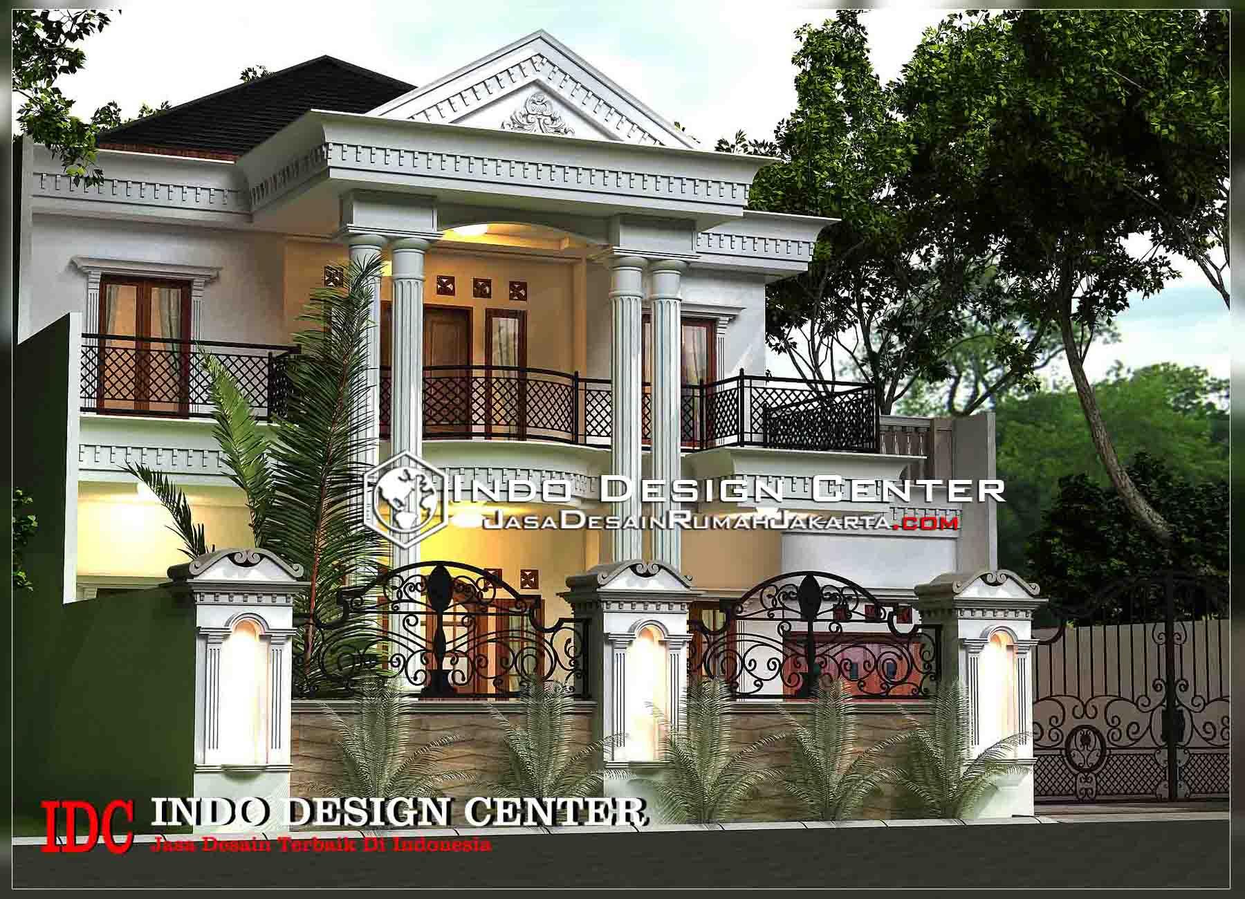 Gambar Desain Rumah Klasik Mediterania 2 Lantai Modern Di Rebanas - Rebanas