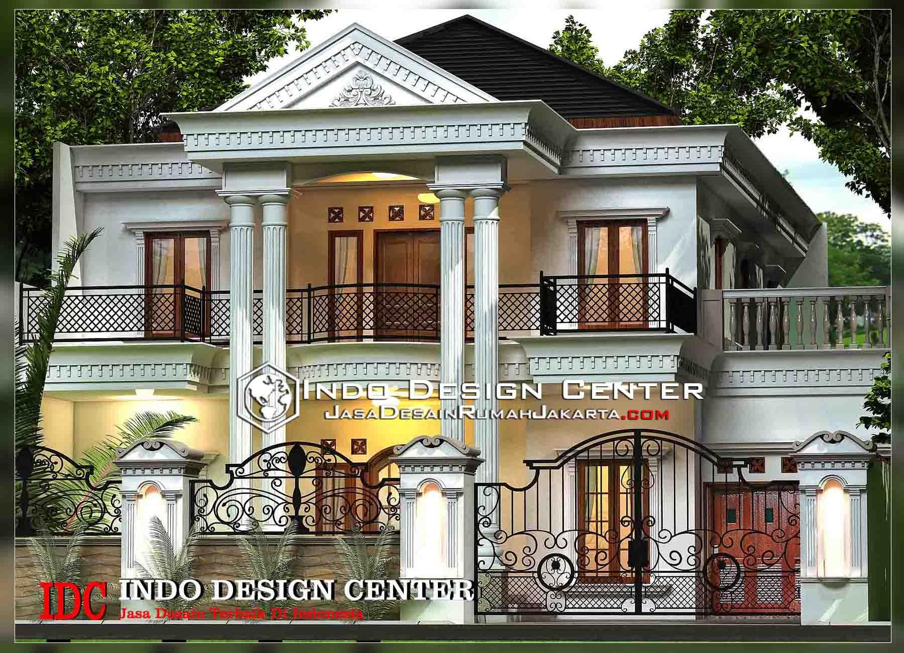 desain rumah klasik mediterania 2 lantai desain rumah