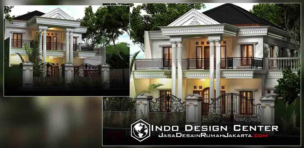 Desain Rumah Klasik Mediterania 2 Lantai