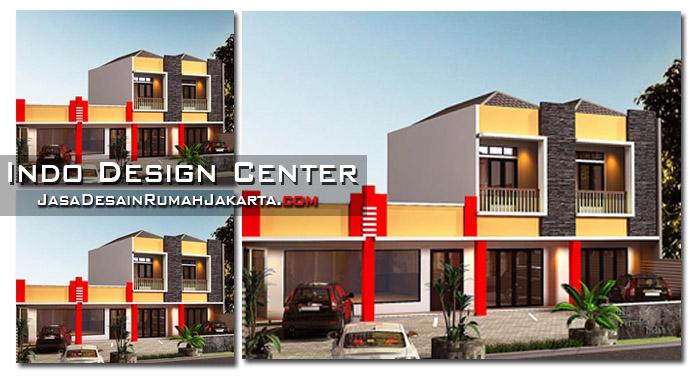 gambar desain rumah tingkat setengah model terbaru