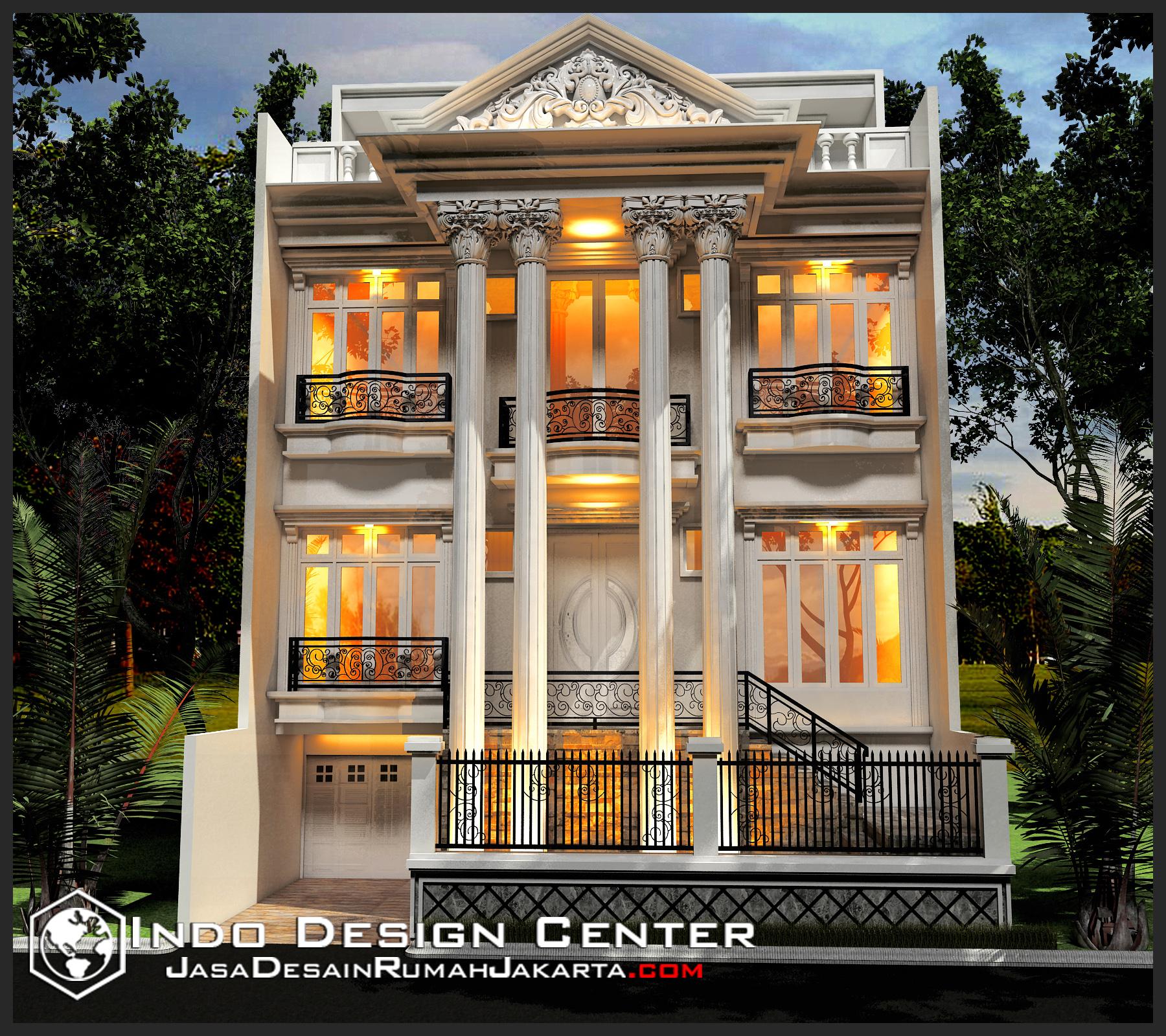Gambar Rumah Mewah Klasik Ibu Elisa, Jasa Desain Rumah Jakarta