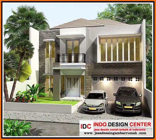 12 Desain Rumah Minimalis Modern 2 Lantai Mewah: Gambar Desain Rumah Kontrakan 8 Pintu